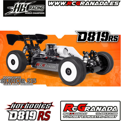 COCHE HB RACING D819RS 1/8  NITRO KIT COMPETICION