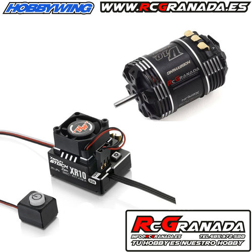 COMBO HOBBYWING 1/10 STOCK SPEC 80A + MOTOR G3 10.5