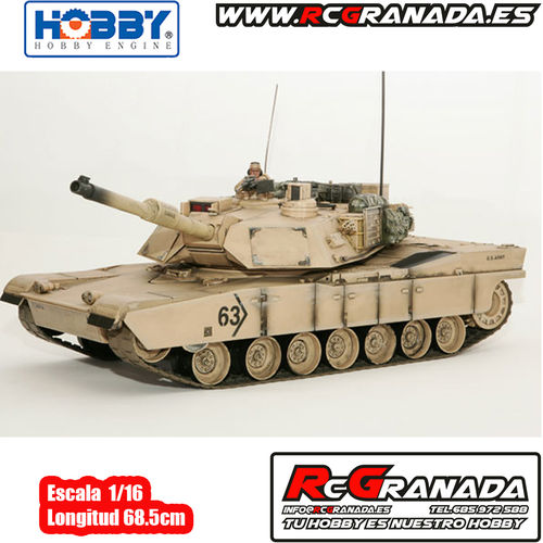 TANQUE HOBBY ENGINE M1A2 ABRAMS DESERT 1/16