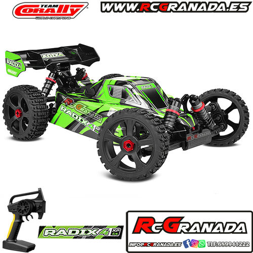 COCHE BUGGY CORALLY RADIX XP 4 BRUSHLESS RTR 1/8